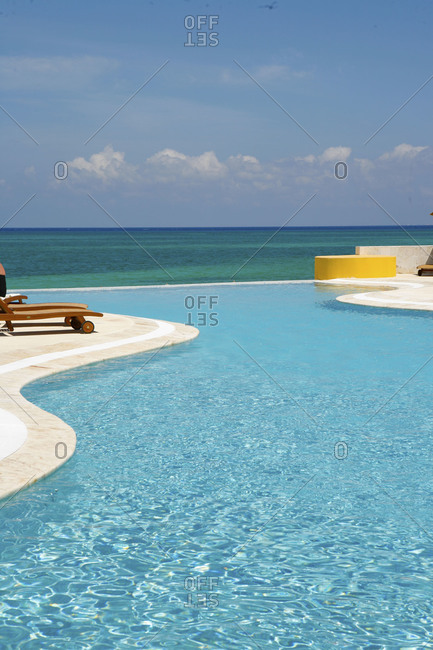 Swimming pool overlooking sea