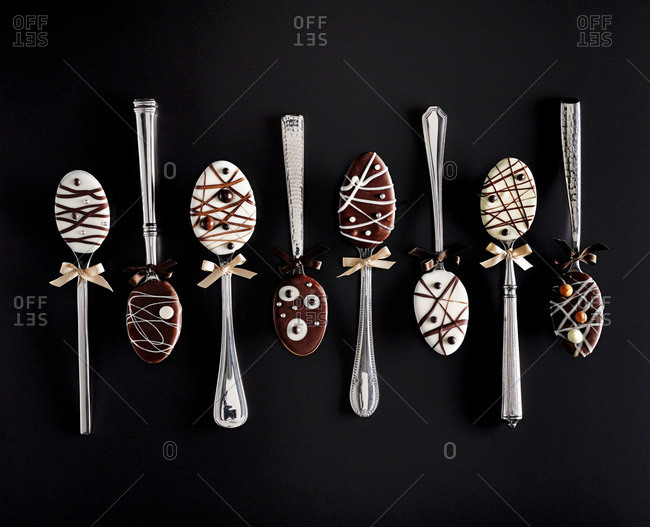 Chocolate covered mixer spoons