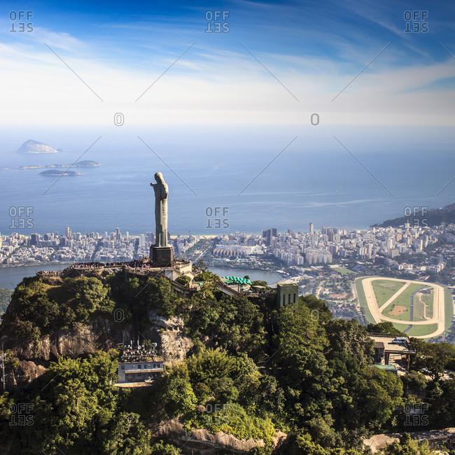 Christ the Redeemer, Corcovado Mountain, Rio de Janeiro, Brazil - February 14, 2013: Christ the Redeemer statue