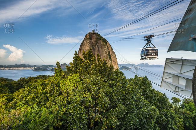 Cable car to the mountain, Rio de Janeiro, Brazil