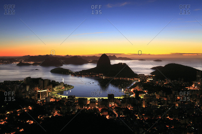 Baia de Guanabara, Flamengo, Botafogo and Sugarloaf Mountain