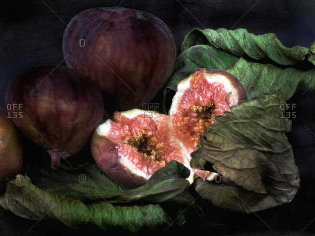 Close up of ripened figs