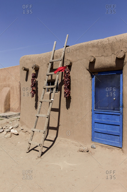 Building in Taos Pueblo, New Mexico, United States.