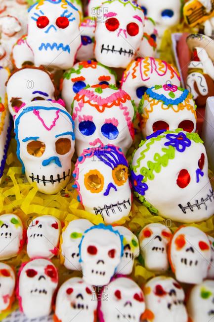 Sugar skulls in San Miguel De Allende, Mexico