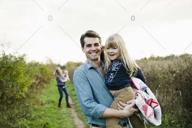 Family taking an excursion
