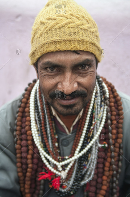Badrinath, Uttarakhand, India - September 14, 2012: A Hindu pilgrim
