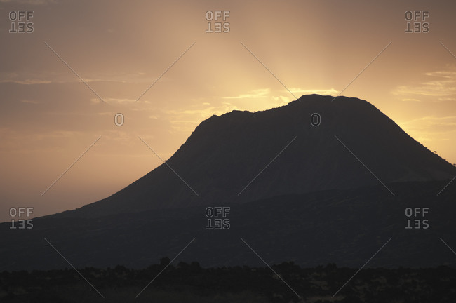 Sunrise over Dema�ali, a volcanic peak