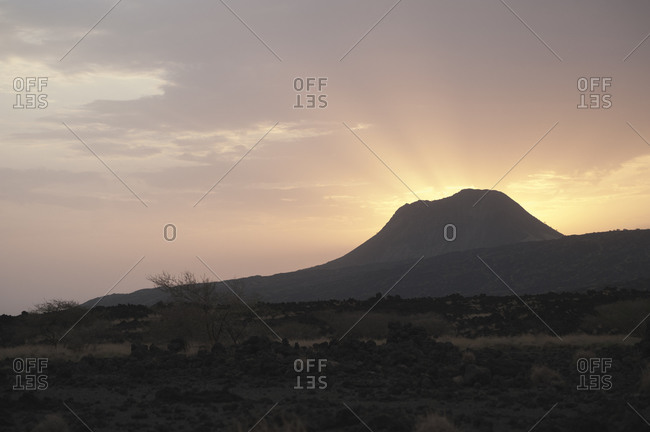 Sunrise over Dema�ali, a volcanic peak