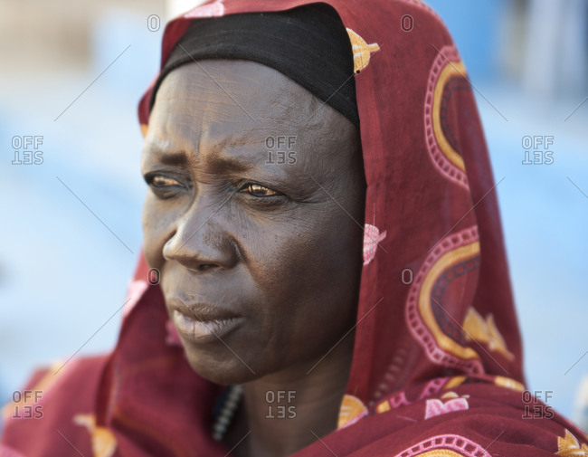 Wadi Halfa, Sudan - September 27, 2011: A Nubian woman