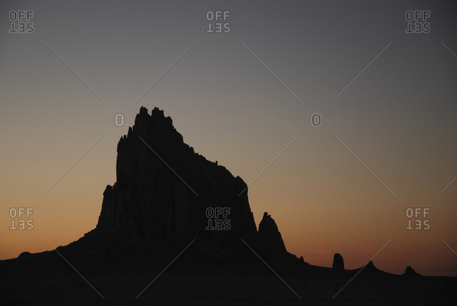 Shiprock, the prominent landmark in northwestern New Mexico, USA