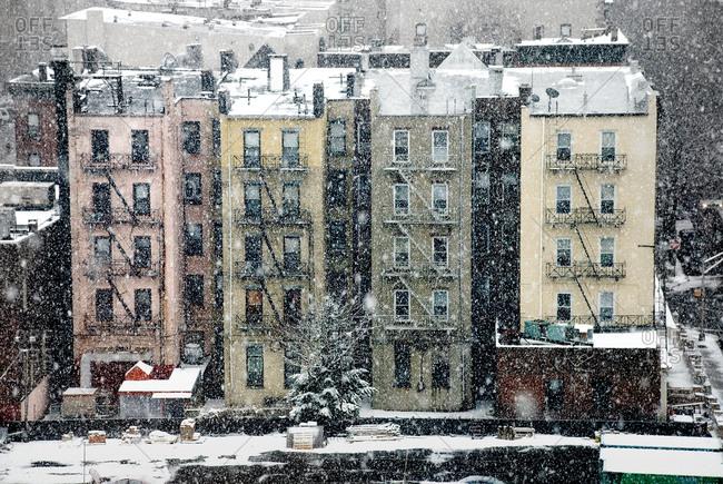 Row house in Snowfall