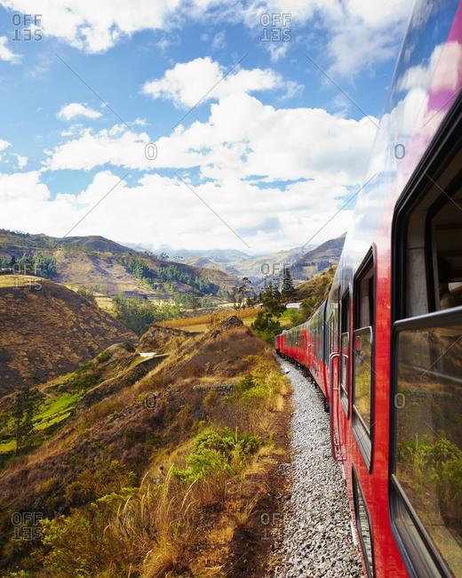 Train passing through rural Ecuador