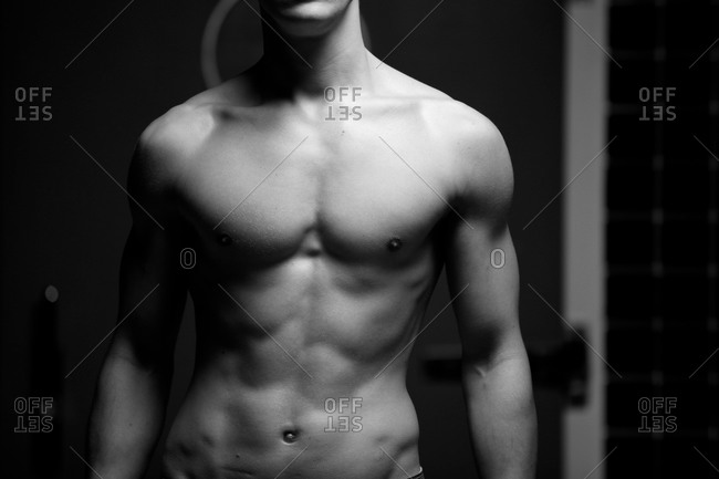 Close up of a fit man's upper body