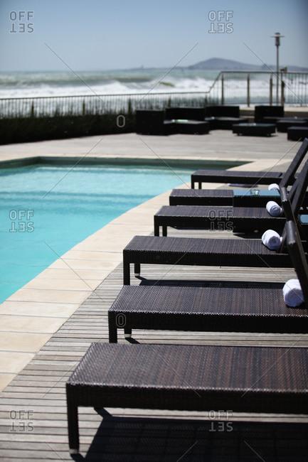 Deserted swimming pool