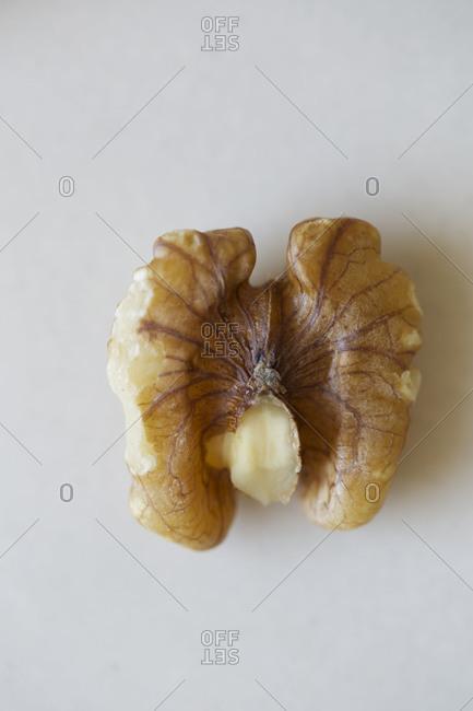 Close up of a walnut