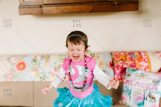 Girl throwing a tantrum