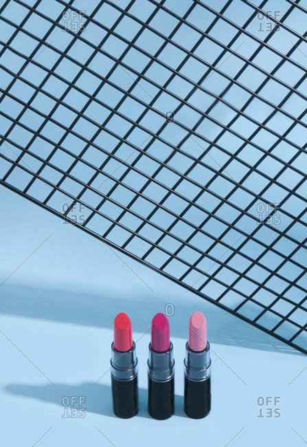 Studio shot of lipsticks