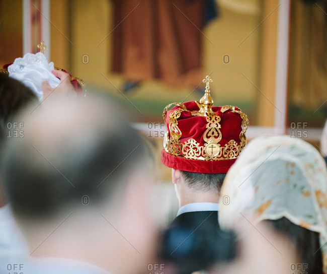 Crowning ceremony at an Orthodox wedding