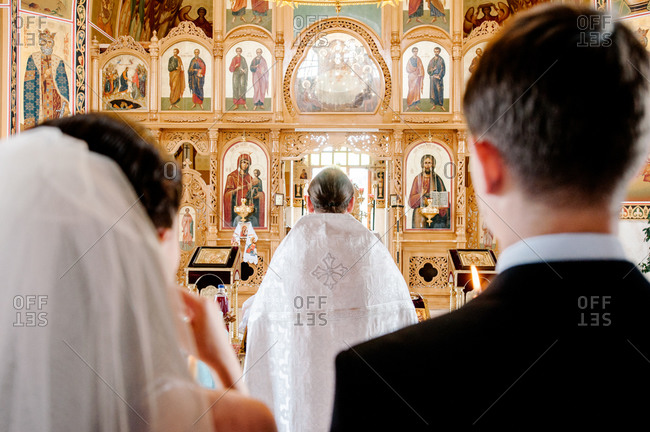 Wedding ceremony in an Orthodox church