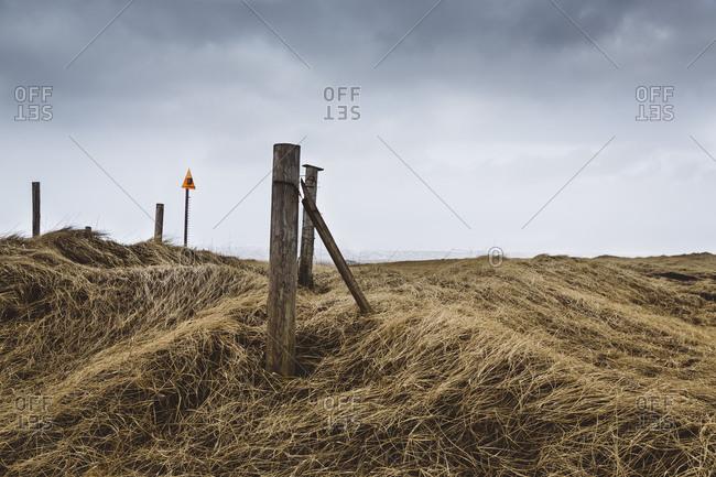 Stormy weather on the coast at Thorlakshofn, Iceland