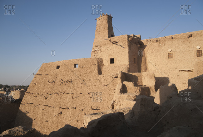 Old mud-brick fort in Shali, Siwa Oasis, Egypt