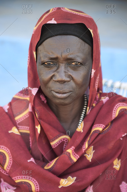 Wadi Halfa, Sudan - September 28, 2011: A Sudanese woman
