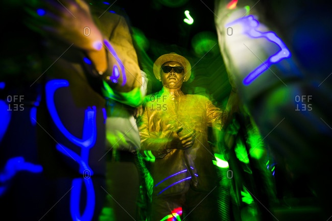 Danang, Vietnam - May 23, 2014: Man performing at a club in Danang, Vietnam