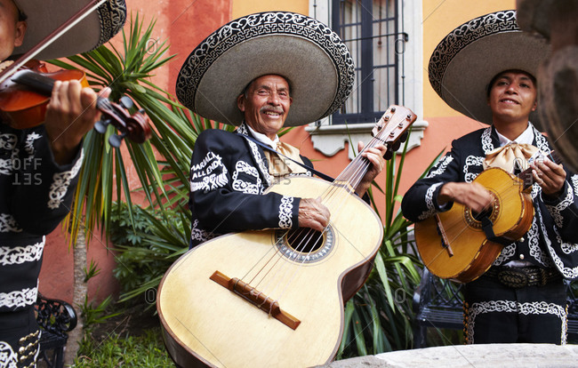 San Miguel, Mexico - October 18, 2013: Mariachi band performing