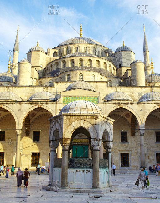 Istanbul Turkey - September 18, 2012: Sultan Ahmed Mosque