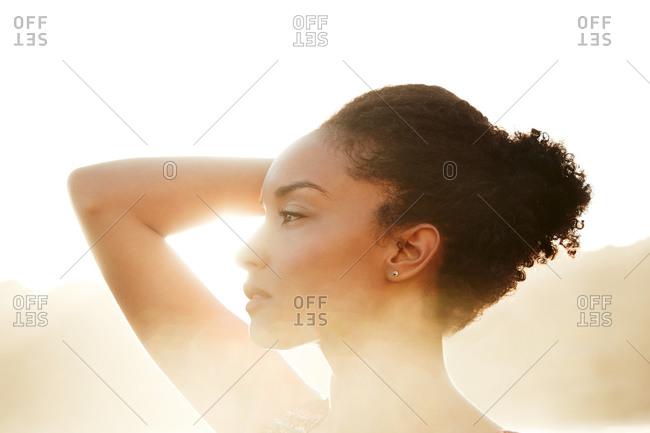 Portrait of a posing woman