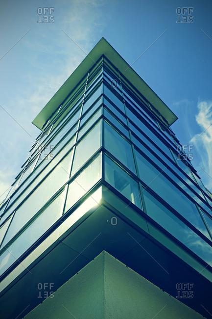 Glass facade of a house