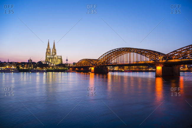 View of Cologne at night