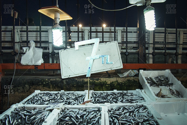 Fish market in Istanbul, Turkey