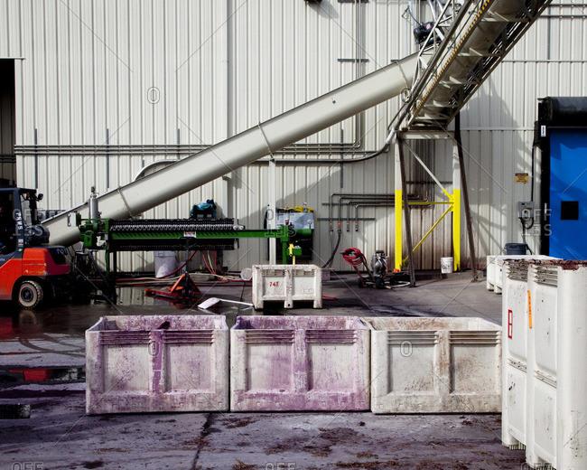 Wine processing facility in Paso Robles, California