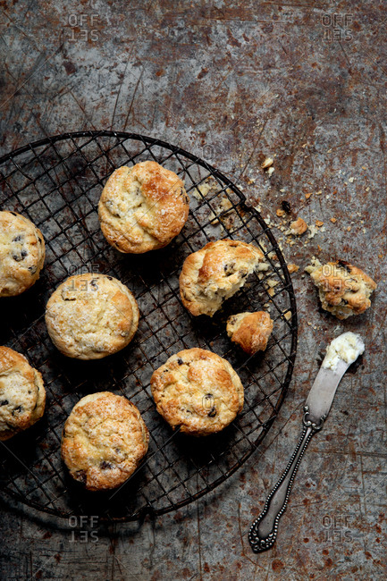 Scones on a cooling rack