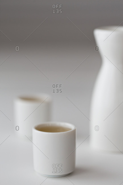 Sake served in traditional cups