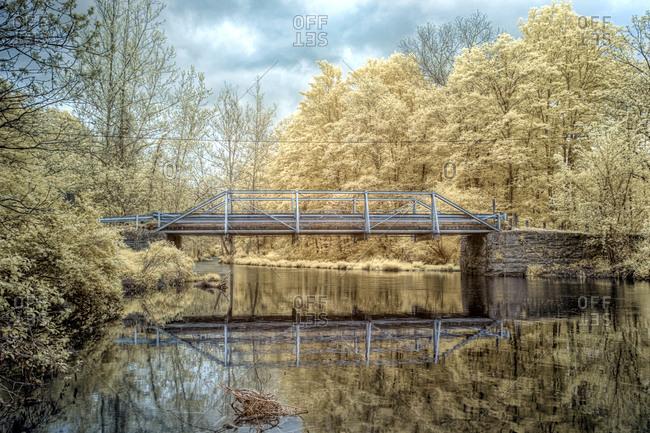 Bridge over river landscape
