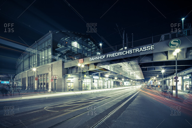 Berlin, Germany - February 7, 2011: View of Friedrichstrasse station