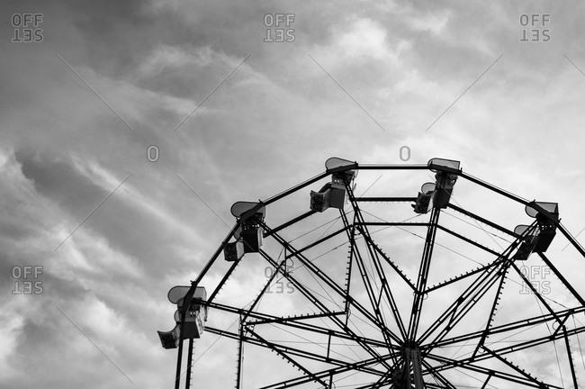 Ferris wheel under an overcast sky