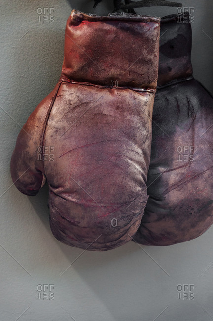 Pair of old boxing gloves