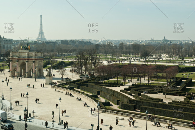 View of the Place Charles de Gaulle in Paris, France