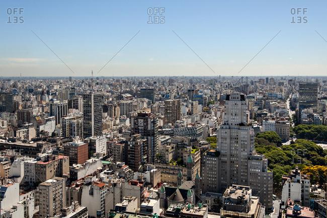 Aerial view of Retiro neighborhood in Buenos Aires, Argentina