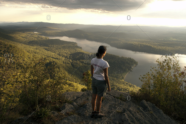 Woman on Rattlesnake Cliffs in the Moosalamoo National Recreation Area, Vermont