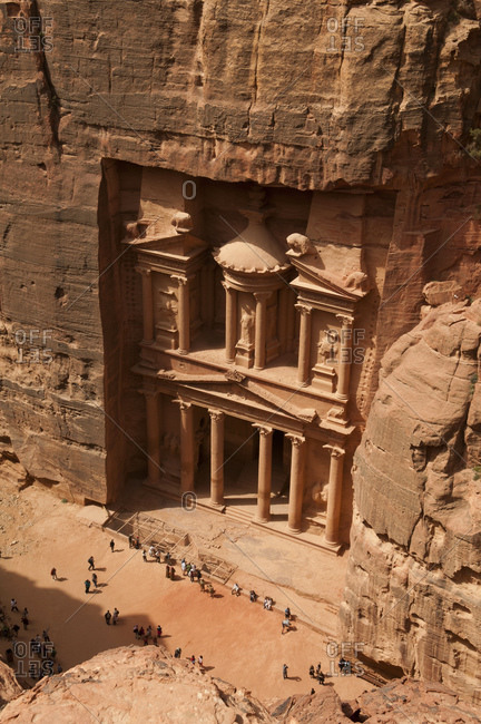 View of Al Khazneh in Petra, Jordan