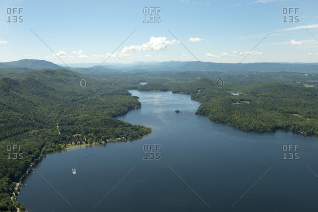 Landscape of Branbury State Park and Lake Dunmore, Vermont