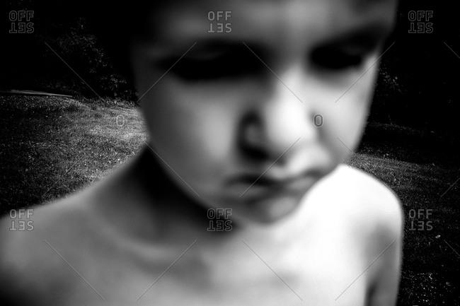 Blurry image of a boy