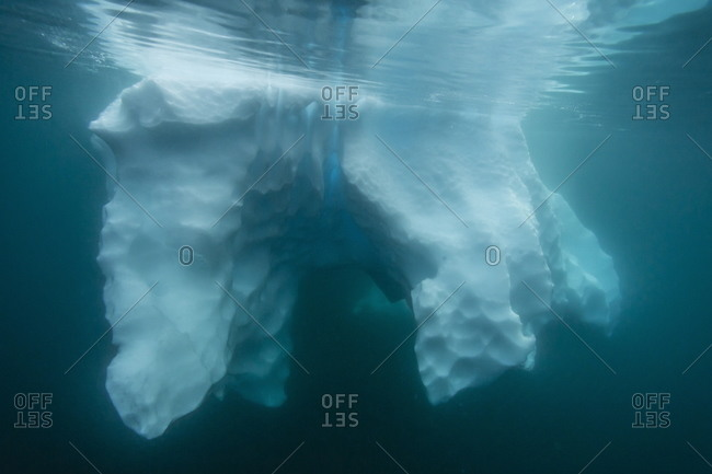 Underwater view of glacial ice near Wiencke Island
