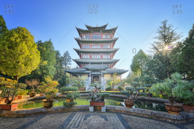 Pavilion of Everlasting Clarity on Lion Hill in Lijiang
