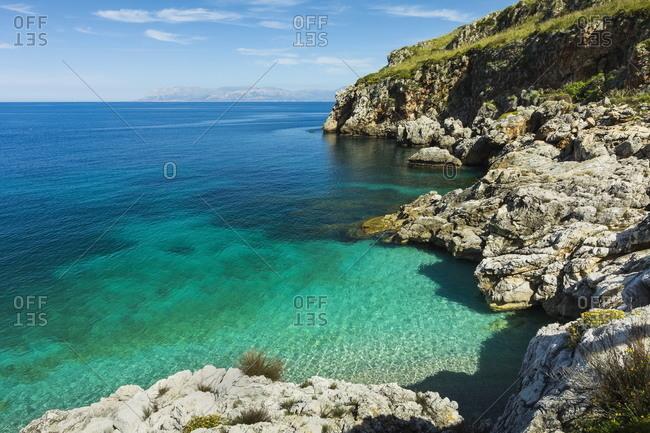 Lovely limestone cove at Zingaro Nature Reserve near Scopello on this beautiful north western coastline