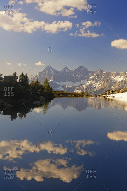 View to Dachstein, Lake Spiegelsee